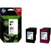 Cartouche d'encre HP 301 Pack 2 cartouches Noir / Couleur