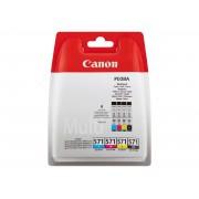 Cartouche d'encre CANON CLI-571 - Pack de 4 - noir et couleur