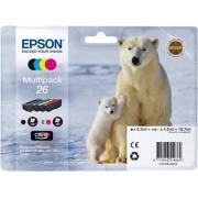 Cartouche d'encre EPSON 26 Multipack Noir et Couleur - Ours