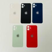 Vitre face arrière avec adhésif iPhone 12 mini qualité origine Noir / Blanc / Bleu / Jaune / Rouge red