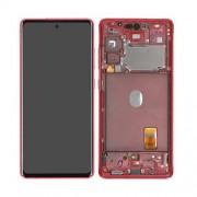 Ecran sur chassis Rouge OFFICIEL Samsung S20 FE 4G / 5G GH82-24220E SM-G780 / SM-G781