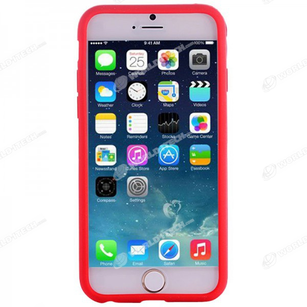 coque iphone 6 rouge souple