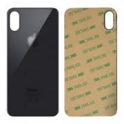 Vitre face arrière noir avec adhésif iPhone X qualité origine