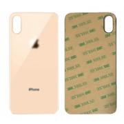 Vitre face arrière or doré saumon avec adhésif iPhone XS max qualité origine