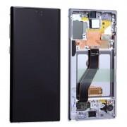 Ecran sur chassis argent OFFICIEL Samsung Note 10 SM-N970F - Kit Outils OFFERT GH82-20818B