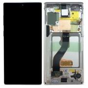 Ecran sur chassis blanc OFFICIEL Samsung Note 10 SM-N970F - Kit Outils OFFERT GH82-20818B
