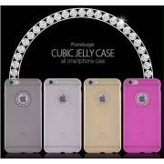 Coque TPU Translucide Couleur Diamants iPhone 6 6S