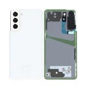 Vitre arrière blanc OFFICIELLE Samsung Galaxy S21+ SM-G990F / SM-G991F GH82-24520C