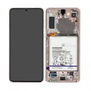 Ecran super AMOLED ORIGINE Samsung argent S21 PLUS SM-G996F  - Kit Outils service pack officiel GH82-24744C