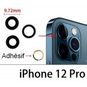 Lot 3 Lentilles remplacement vitre appareil photo iPhone 12 pro / 12 pro max