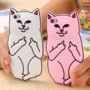 Coque Silicone Chat Fuck iPhone 6 6S