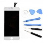 Ecran LCD Blanc compatible iPhone 6 plus + Outils reparation